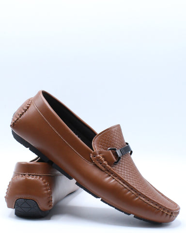 Men's Slip On Dress Shoe - Brown-VIM.COM