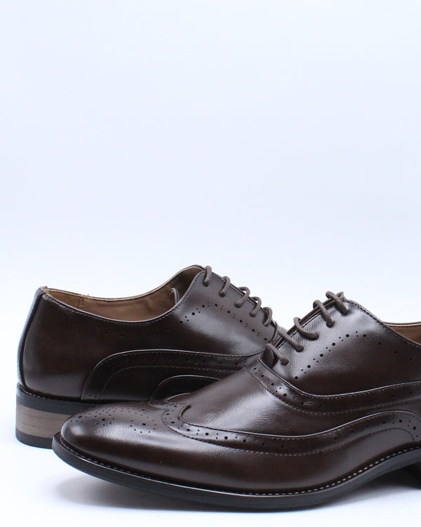 Men's Lace Dress Shoe - Coffee