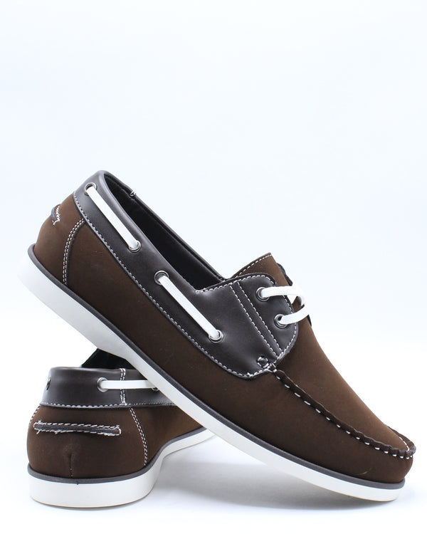 Men's Boat Lace Shoe - Brown-VIM.COM