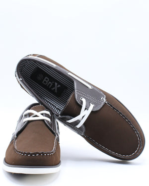 Men's Boat Lace Shoe - Brown