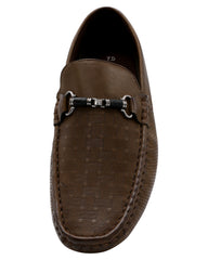 Driving Moc Buckle Perforated Shoe