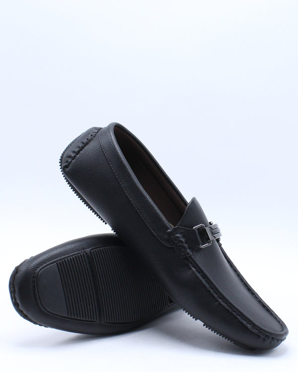 Men's Driving Buckle Shoe - Black