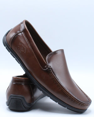 Men's Driving Moc Shoe - Brown-VIM.COM