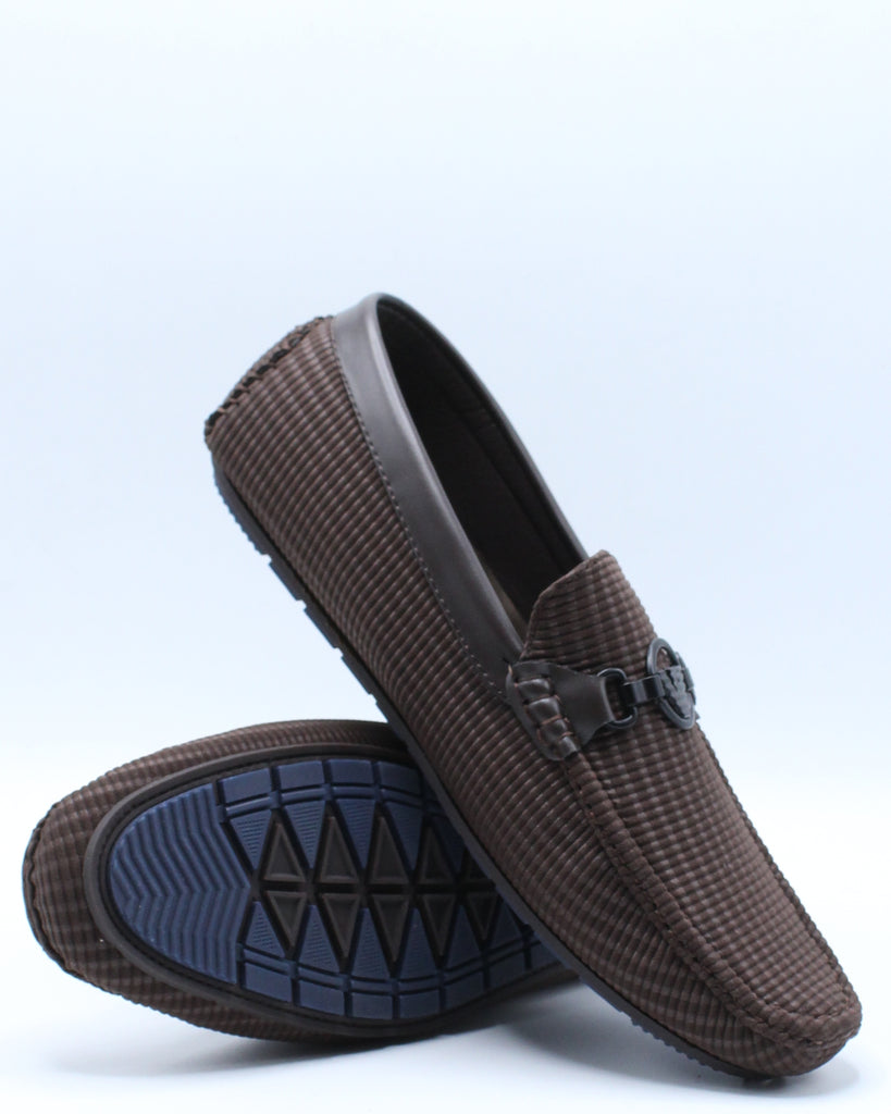 Mens Ornament Loafer - Brown