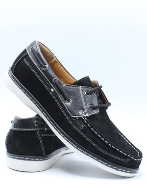 Men's Conley Lace Shoe - Black-VIM.COM
