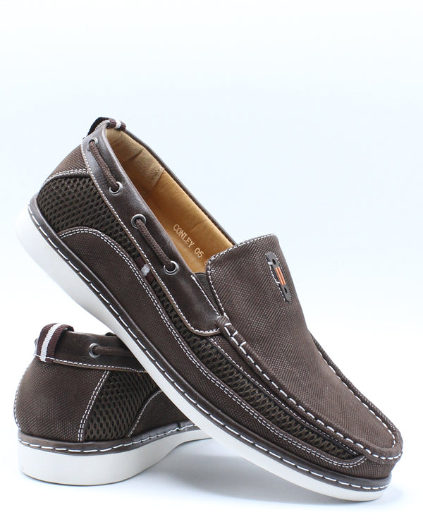 Men's Conley Slip On Shoe - Brown-VIM.COM