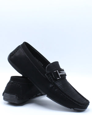 Men's Slip On Dress Shoe - Black-VIM.COM