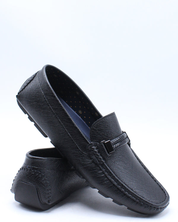 Men's Lenny Slip On Shoe - Black-VIM.COM