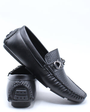 Men's Simpson Weave Drive Shoe - Black-VIM.COM