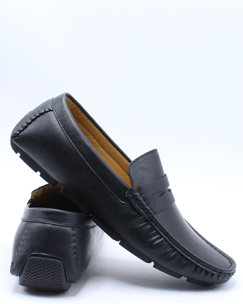 Mens Driving Loafer Shoe - Black