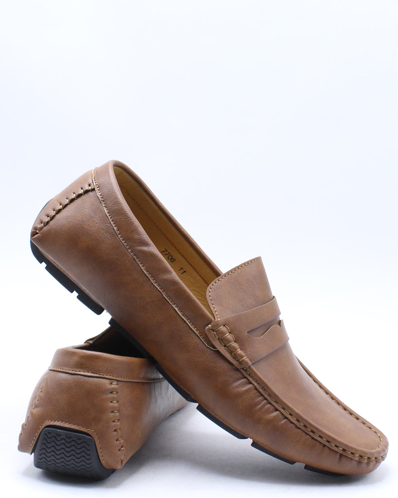 Mens Penny Driving Shoe - Brown