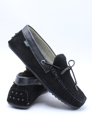 Men's Tobby Suede Le Shoe - Black-VIM.COM