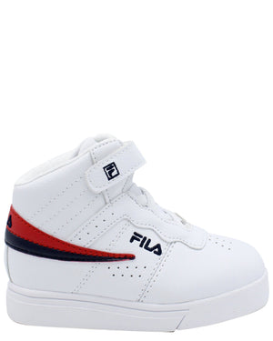 FILA-F-13 Mid Sneaker (Toddler) - White Navy Red-VIM.COM