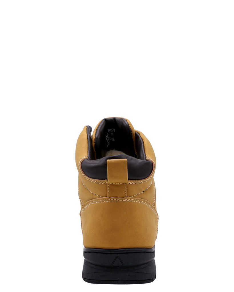 VIM Men'S Plain Toe Fur Boots - Wheat - Vim.com