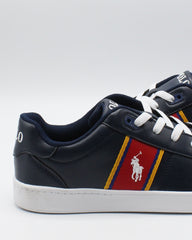 POLO RALPH LAUREN Quigley Sneaker (Grade School) - Navy White Red - Vim.com
