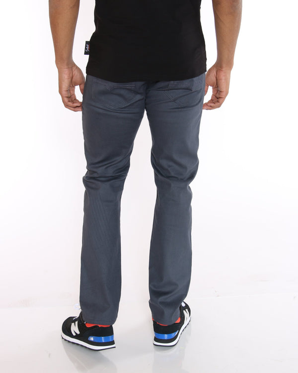 VIM John Twill Embroidered Pocket Pant - Charcoal - Vim.com