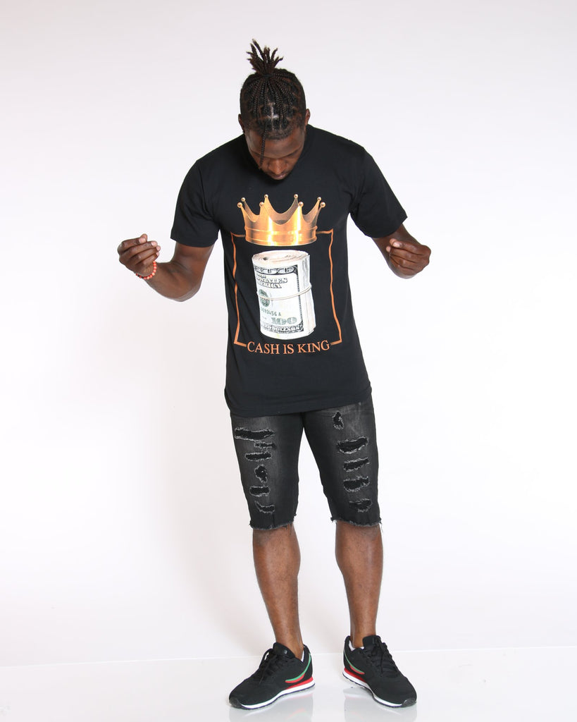 VIM Cash & Crown Printed Tee - Black - Vim.com