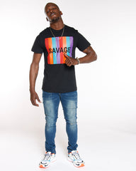VIM Colorful Savage Box Logo Tee - Black - Vim.com