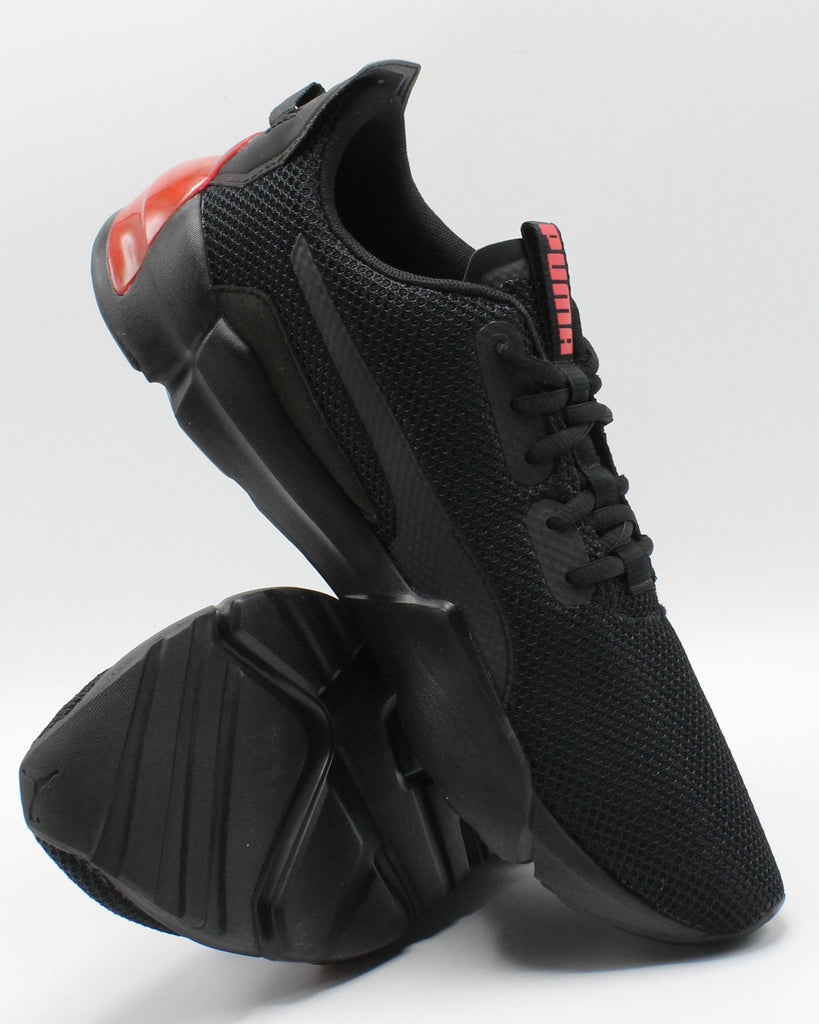 PUMA Men'S Cell Regulate Sneaker - Black Red - Vim.com