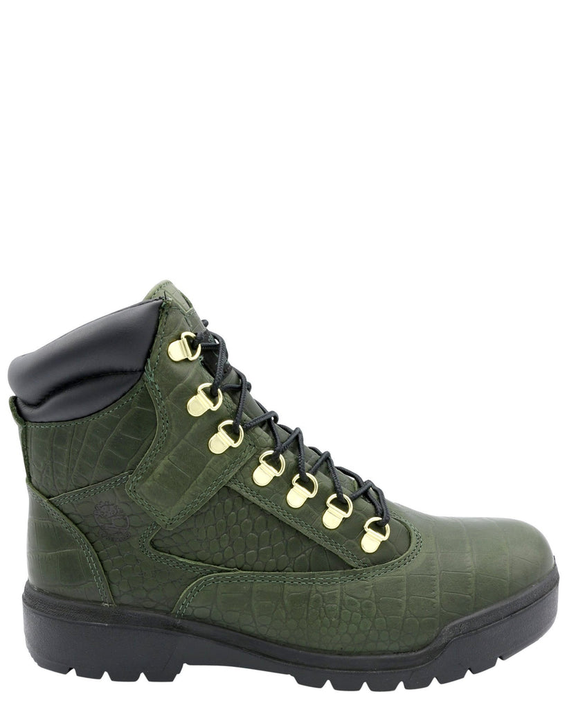 Classic Army Green White Men Timberland 6 Inch Footwear