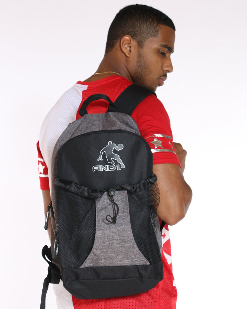 AND 1 And 1 Backpack - Grey Black - Vim.com