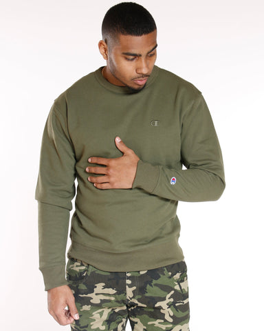 CHAMPION Champion Power Blend Fleece Crew - Hiker Green - Vim.com