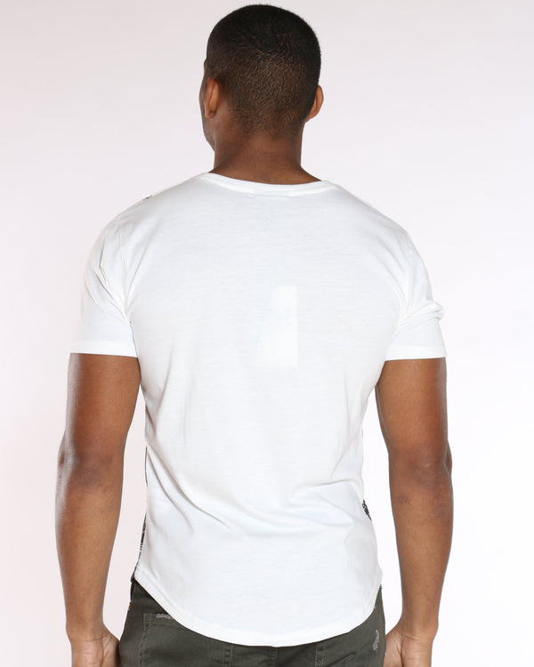 VIM Macho Paint Splatter Look Tee - White - Vim.com