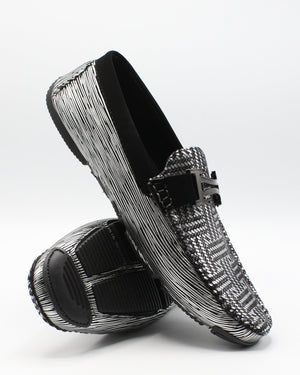VIM Men'S Driving Moc Buckle Shoe - Silver - Vim.com
