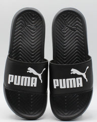 PUMA Popcat Jr Slides (Grade School) - Black - Vim.com