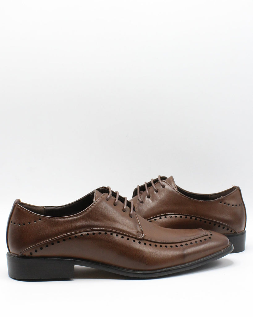 VIM Men'S Lace Up Stitch Shoe - Brown - Vim.com