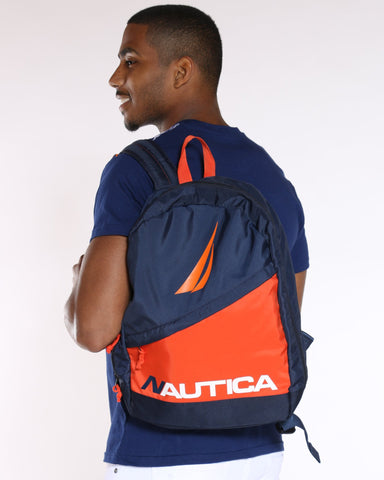 NAUTICA-Nautica Color Block Backpack - Navy-VIM.COM