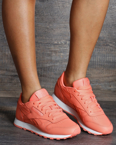 REEBOK Classic Leather Sneakers - Stellar Pink White - ShopVimVixen.com
