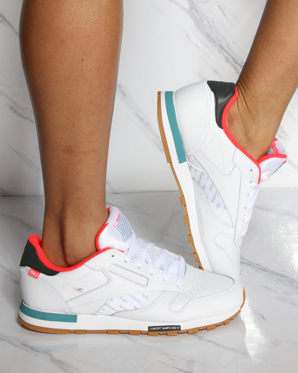 Classic Leather Altered Sneaker - White