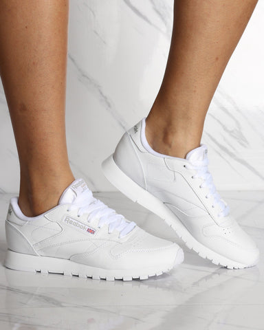 REEBOK-Women's Classic Leather Plus Sneaker - White-VIM.COM