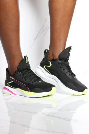 PUMA-Women's Softride Rift Tech Sneaker - Black Red-VIM.COM
