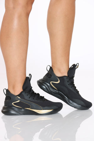 PUMA-Women's Softride Tech Sneaker - Black-VIM.COM