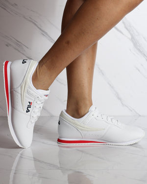 Machu Low Top Sneaker - White Red Navy