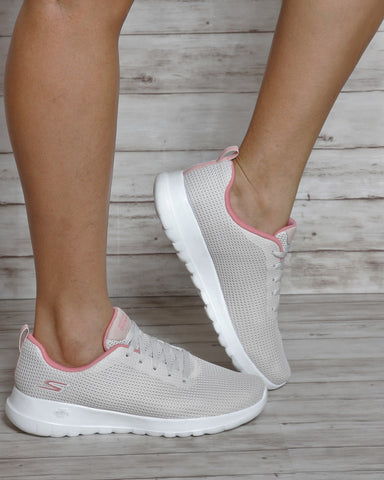 SKECHERS Go Walk Joy Upturn Sneakers - Off White - ShopVimVixen.com