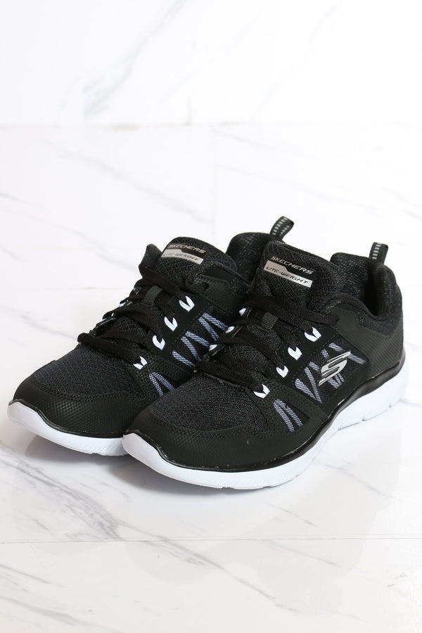 Women's Summit New World Lace Up Sneaker - Black White