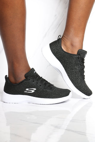 SKECHERS-Women's Lace Slip On Sneaker - Black-VIM.COM