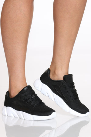 Women's Zarin Sneaker - Black White