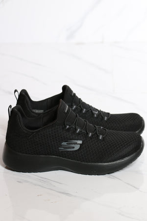 SKECHERS-Women's Dynamight Sneaker - Black-VIM.COM