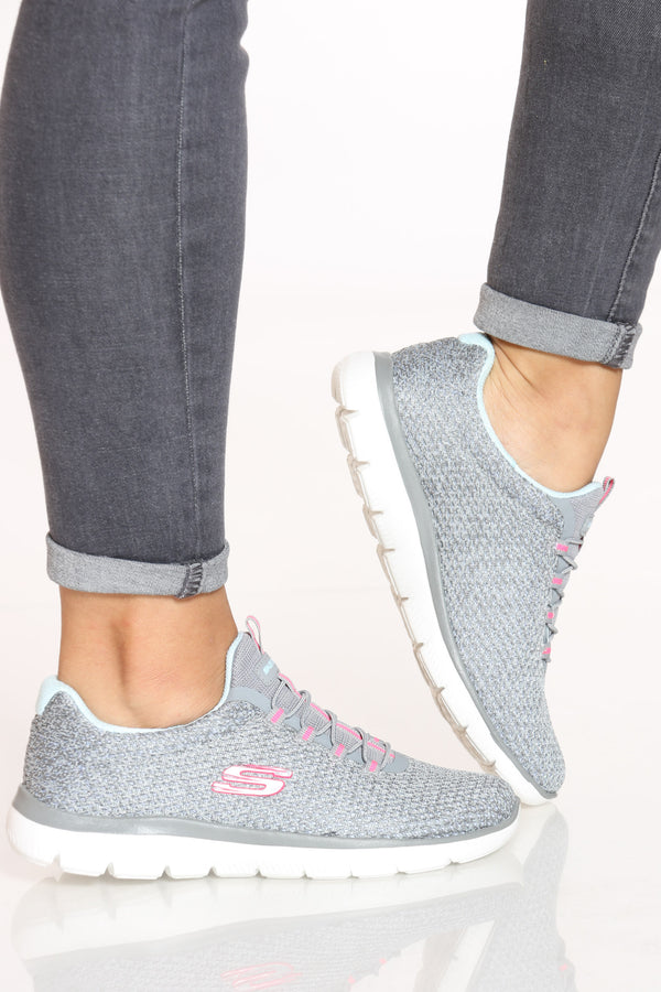 Women's Summits Striding Shoe - Grey Pink