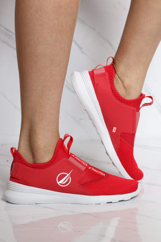 NAUTICA-Women's Ambrea Low Top Sneaker - Red-VIM.COM