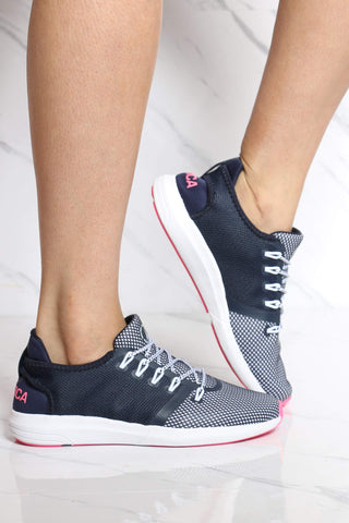 NAUTICA-Women's Tamiah Low Top Sneaker - Navy Pink-VIM.COM