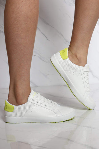 Women's Esme Low Top Sneaker - White Lime