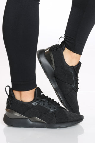 Women's Muse Mesh SM Sneaker - Black
