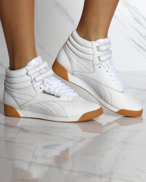 Women's Freestyle Hi Top Sneaker - Gum White-VIM.COM