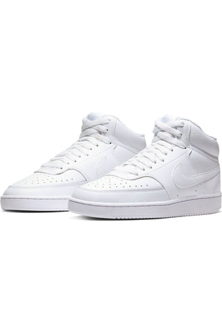 Women's Court Vision Mid Sneaker - White