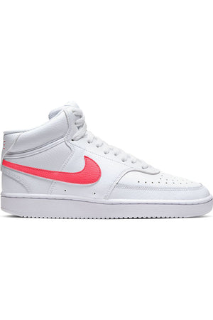 NIKE-Women's Nikecourt Vision Mid Shoe - White Red-VIM.COM
